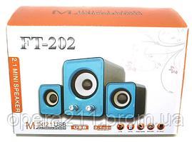 Компьютерные колонки 2.1 USB FnT FT-202
