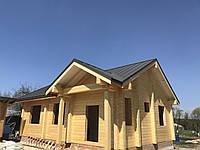 Деревянный дом, баня из бревна