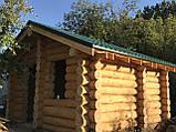 Деревянный дом, баня из бревна, фото 7