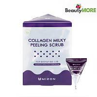 Скраб для лица с коллагеном и молочным белком Mizon Collagen Milky Peeling Scrub