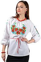 Женская сорочка вышиванка Васильок (рукав 3/4), фото 1