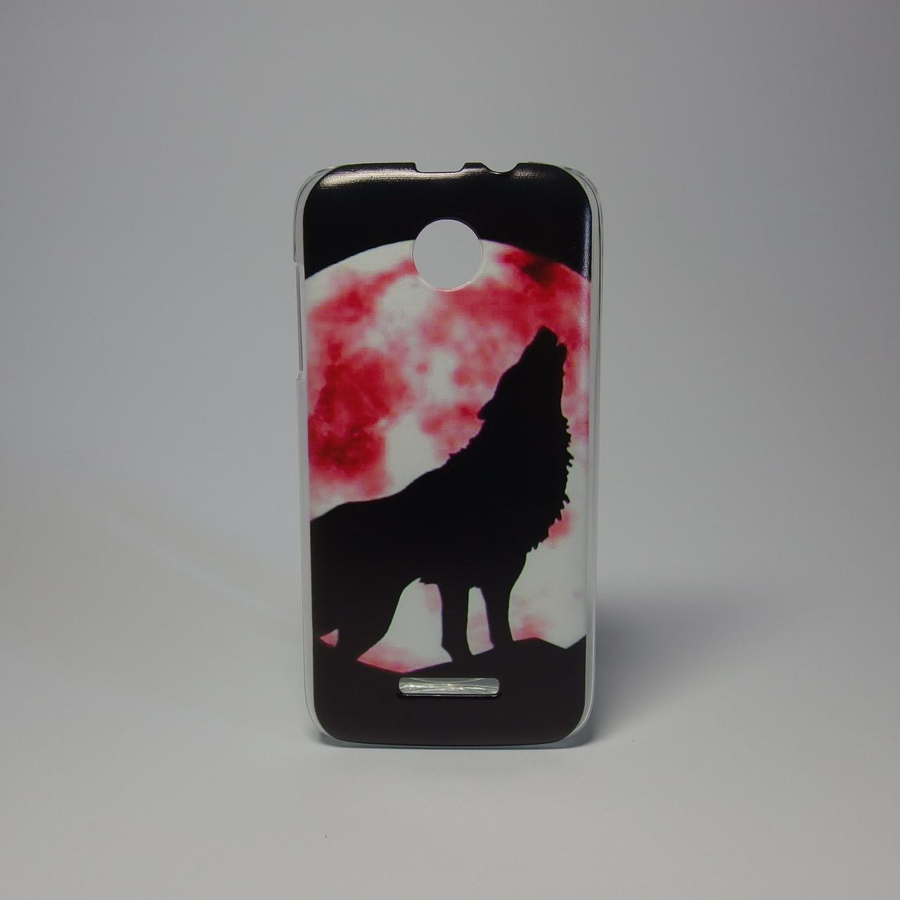Чехол для lenovo a390 панель накладка с рисунком дикий волк