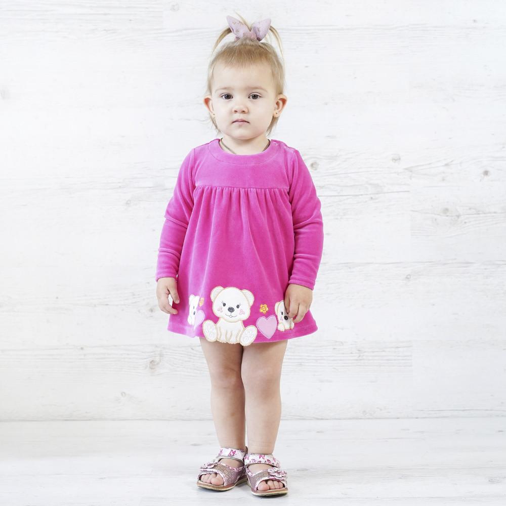 """Стильное детское платье боди для девочек из велюра """"Марисса"""""""