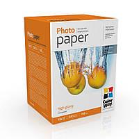 Фотобумага ColorWay глянцевая 180г/м10x15 500л (PG1805004R) картонная упаковка