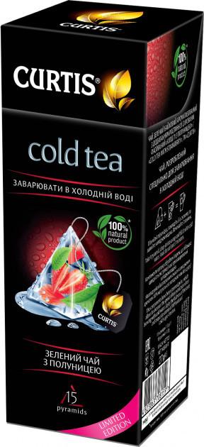 Зелений чай з полуницею Curtis Cold Tea для заварювання в холодній воді 15 пірамідок