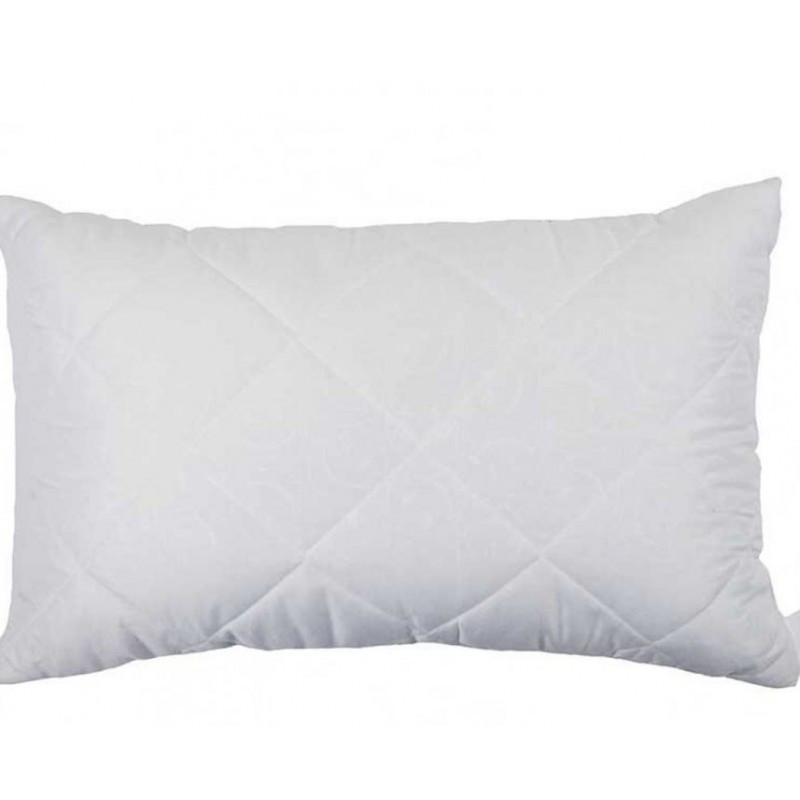 Біла стьобана подушка з силіконового волокна 50х70 T-51218