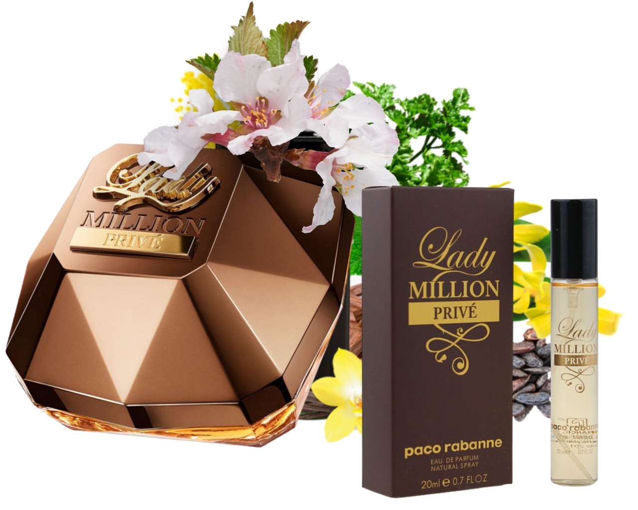 Женский мини-парфюм Paco Rabbane Lady Million Prive 20 мл