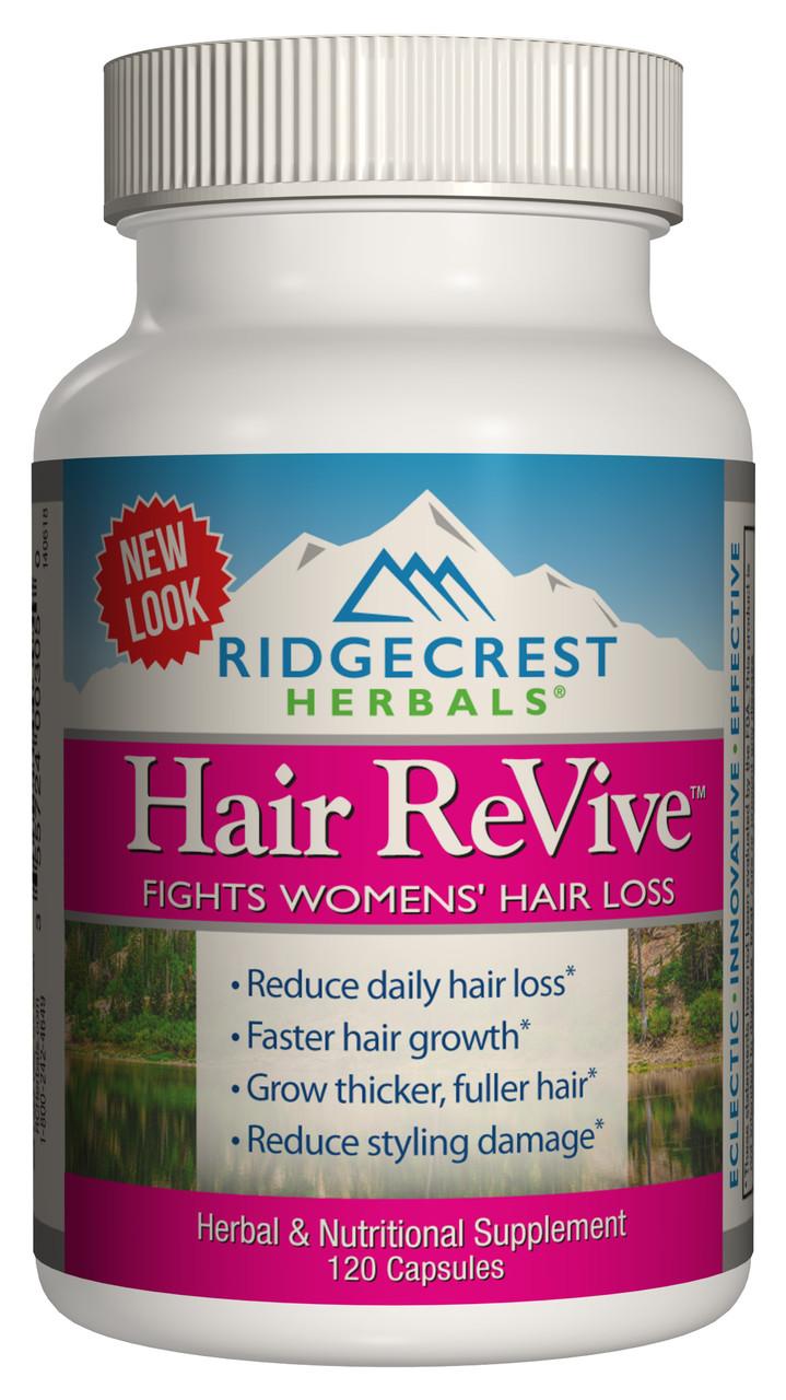 Комплекс от Выпадения Волос для Женщин, Hair ReVive, RidgeCrest Herbals, 120 капсул
