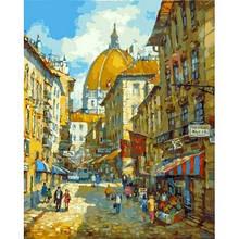 """Картина за номерами Білосніжка 40 х 50 см 263-AB """"Прогулянка по Флоренції"""""""