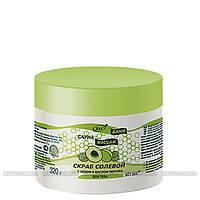 ВИТЕКС Сауна, баня, массаж - Скраб солевой для тела (мед и масло персика)  320г