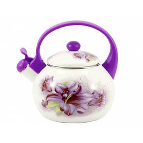 Чайник эмалированный со свистком 2,2 л Лилия Interos 6/L-2-2 79575