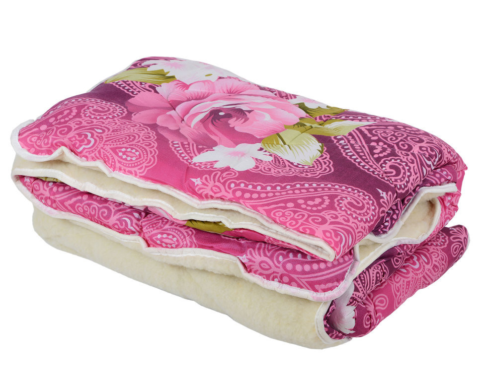 Одеяло Открытое овечья шерсть (Поликоттон) Двуспальное Евро T-51243