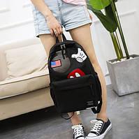 Тканевый оригинальный молодежный стильный рюкзак для девушки Микки Маус