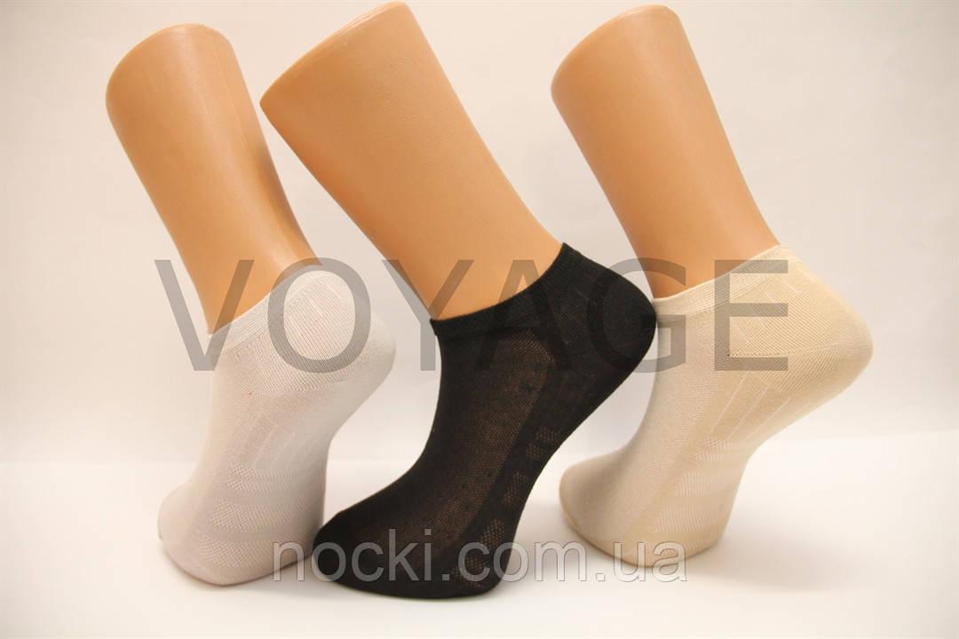 Мужские носки короткие в сеточку Теркурий1033 25 серый