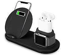 Беспроводная док-станция oneLounge FastCharge 10W 3-in-1 для iPhone/AirPods/Apple Watch 1/2/3 (5660)
