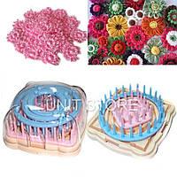 Набор для вязания цветов и узоров (для тенерифе), Станок Flower loom, Спицы, крючки и аксессуары для вязания