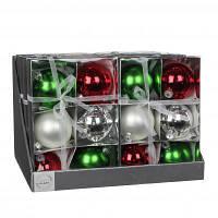 Елочная игрушка Christmas House Шарик цветной 8 см 6 шт (8718861132779)