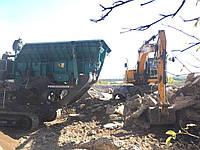 Переработка строительного мусора, дробление бетона и железобетона во вторичный щебень