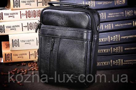 Мужская кожаная сумка через плечо из натуральной кожи, фото 2