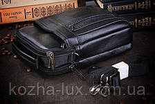Кожаная мужская сумка ручной работы, фото 3