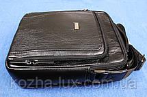 Мужская сумка вместительная кожаная, фото 3