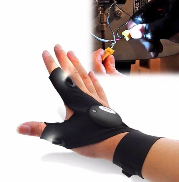 Перчатка с светодиодной подсветкой   Фонарик на руку DreamTon