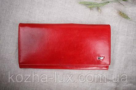 Кошелек красный натуральная кожа, фото 2