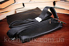 Стильная мужская сумка кожаная, фото 3