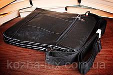 Мужская кожаная большая сумка из натуральной кожи, фото 3