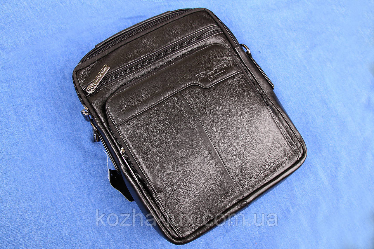Кожаная мужская сумка ручной работы из натуральной кожи