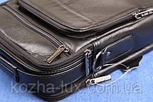 Кожаная мужская сумка ручной работы из натуральной кожи, фото 2