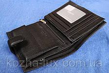 Кожаное портмоне чёрное вертикальное VE-016-14, фото 2