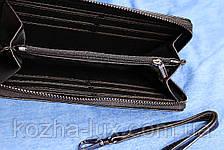 Клатч кошелек черный кожаный, фото 3