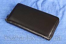 Клатч кошелек черный кожаный, фото 2