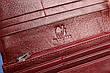 Женский кожаный кошелек бордовый, фото 5