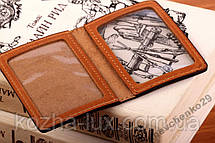Кожаная обложка мини на документы права, фото 2