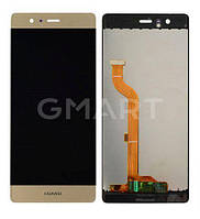 Дисплей для Huawei Ascend P9 золотистый (LCD экран, тачскрин, стекло в сборе), Дисплей Huawei Ascend P9 золотистий (LCD екран, тачскрін, скло в зборі)