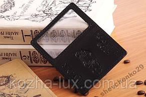 Обложка на документы 2-е карточки кожаная, фото 3