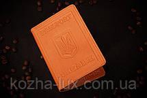 Обкладинка на паспорт з натуральної шкіри, фото 3