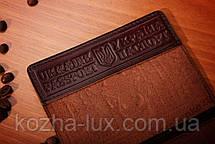 Коричнева шкіряна обкладинка на паспорт, фото 2
