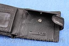 Мужское кожаное портмоне Hassion черный H-13, фото 2