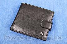Мужское кожаное портмоне Hassion черный H-13, фото 3