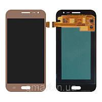 Дисплей для Samsung J200F Galaxy J2 золотистый (LCD экран, тачскрин, стекло в сборе), Дисплей Samsung J200F Galaxy J2 золотистий (LCD екран, тачскрін,