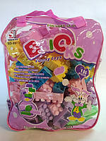 Детский конструктор 186 деталей в рюкзаке