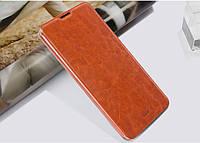 Кожаный чехол книжка MOFI для Lenovo IdeaPhone A8 Golden Warrior коричневый