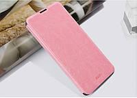 Кожаный чехол книжка MOFI для Lenovo IdeaPhone A8 Golden Warrior розовый, фото 1