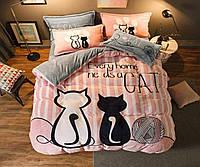 Комплект постельного белья  Бязь GOLD 100% хлопок  Коты