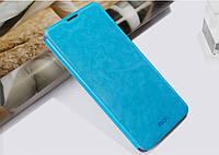Кожаный чехол книжка MOFI для Lenovo IdeaPhone A8 Golden Warrior бирюзовый