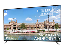 "Огромный телевизор Liberton 52"" Smart-TV/DVB-T2/USB Android 7.0 АДАПТИВНЫЙ 4К/UHD"
