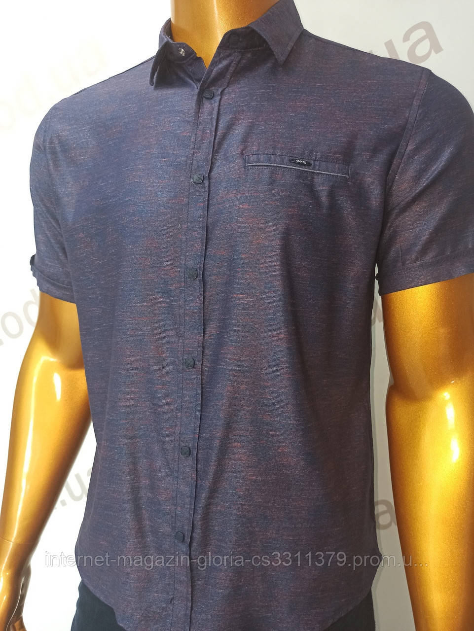 Мужская рубашка Amato. AG.19638-2(f). Размеры:M,L,XL(2), 2XL.